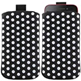 ITALKonline BLACK Quality Slip Pouch Protective Case Cover with Pull Tab For HTC Sensation