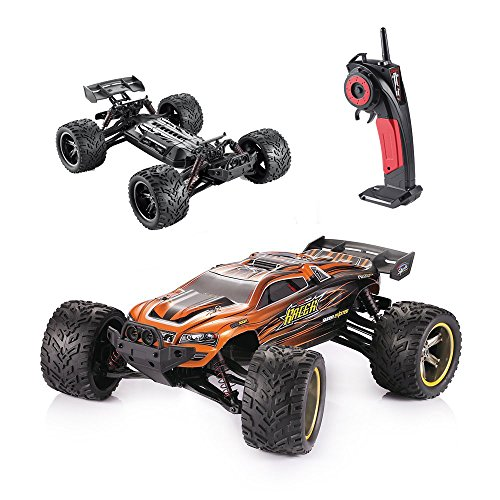 HOSIM Hobby Grade RC Car S912, All Terrain 33+MPH 1/12 Scale Off Road Full Proportional Radio Controlled Electric Semi-Waterproof Monster 2WD Monster Truggy - Best Christmas Gift for Kids (Orange) (Rc Electric Car Fast compare prices)