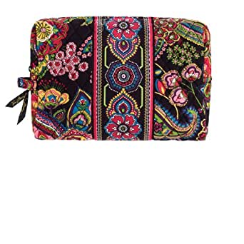 vera bradley large cosmetic bag in symphony in