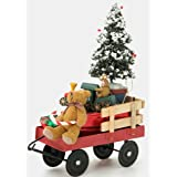 Byers Choice Red Wagon with Toys