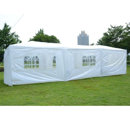 Outsunny 10' x 30' Gazebo Canopy Party Tent w/ Removable Side Walls - White at Sears.com