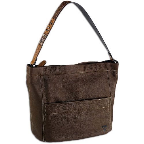 .com: Tennessee Fossil College Victory Leather Hobo Purse - Women