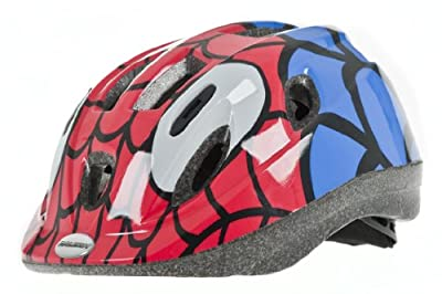 Raleigh Boy's Mystery Spiderman Cycle Helmet - Red/Blue, 52-56 cm from Raleigh