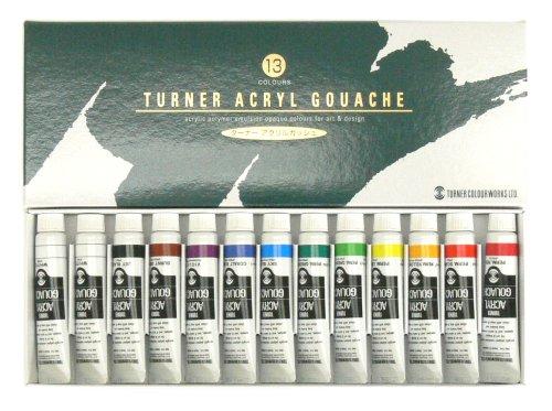 ターナー アクリルガッシュ 13本(12色)スクールセット