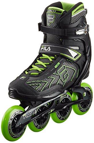 Fila Hombre Inline Skate Plume 90, negro/verde, 43, 010616060