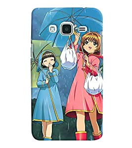 Printvisa Rainy Day With Friends Back Case Cover for Samsung Galaxy J2 (2016)