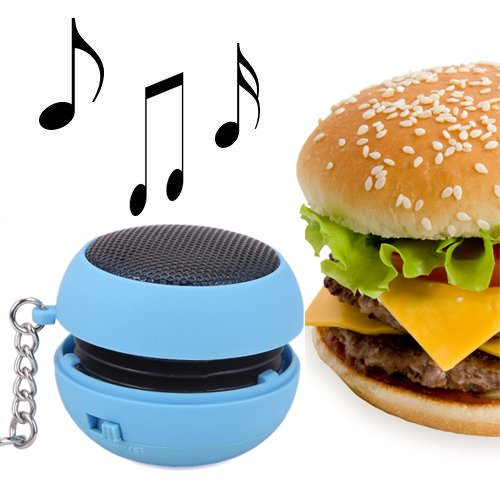 Hde Mini Usb Rechargeable Portable Keychain Capsule Speaker (Blue)