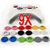 9 Pairs X Thumbstick Stick Grip Case for PS4 playstation 4 PS2 PS3 XBOX 360 Wii controller--9 colors