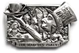 Mad Tea Party - Silver Belt Buckle
