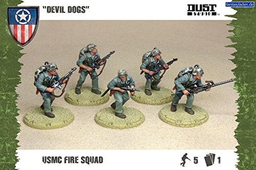 "Dust Tactics: Allies USMC Fire Squad ""Devil Dogs"" by Battlefront Miniatures"