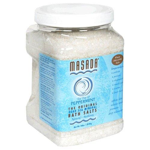 Masada Bath Salts, Tea Tree & Peppermint, Dead Sea Mineral, 64 oz (1.814 kg)