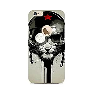 Ebby Helmet Lion Premium Printed Case For Apple iPhone 6/6s with hole