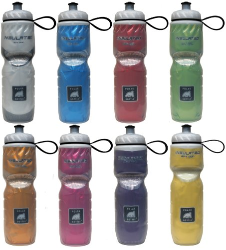 Polar Insulated Water Bottles, Case of 24 (Various, 24-Ounce)