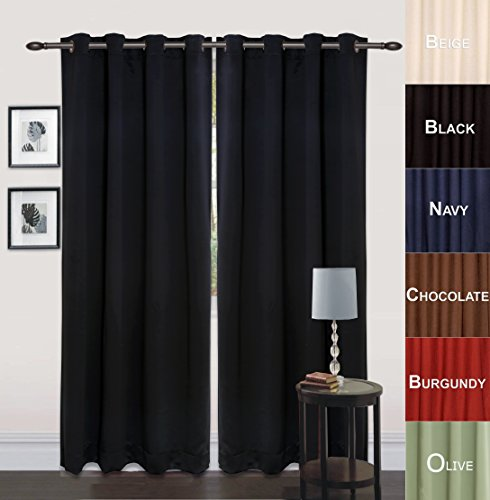 Utopia bedding 52 inch wide x 84 inch long blackout window for Long windows for sale