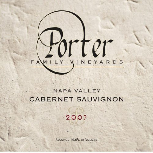 2007 Porter Family Vineyards Cabernet Sauvignon Coombsville 750 Ml