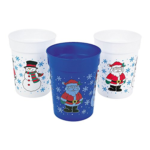 One-Dozen-Plastic-Holiday-CupsCHRISTMAS-CupsChristmas-Tableware-and-Party-Supplies