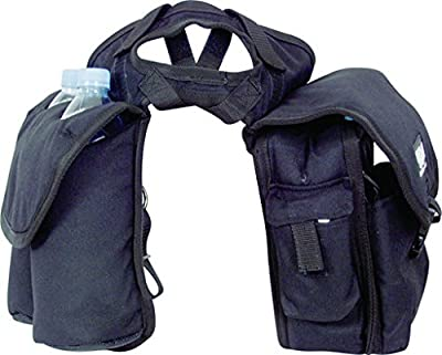 Cashel Quality Deluxe Medium Horse Saddle Pommel Horn Bag, Insulated Padded Pockets, Two Water Bottle Pockets, Camera or Cell Phone Pocket, 600 Denier Material, Size: Medium Color Choice: Black, Brown or Camo