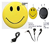 ONGS ---- Smiley Yellow Mini DV Badge spy Camera Voice & Video High HD Resolution + MP3 Player {DVR & MP3} (SMILEY BADGE)