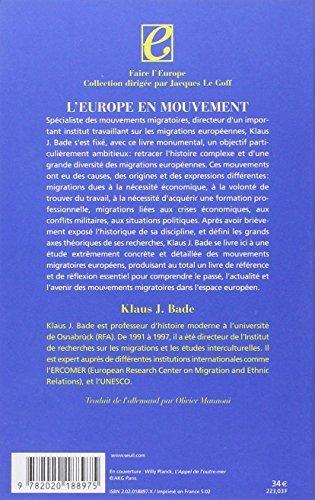 Europe en mouvement : La Migration de la fin du XVIIIe si?cle ? nos ...