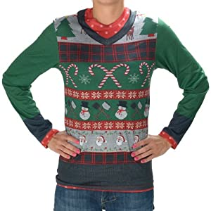 Faux Real Men's Ugly Christmas Sweater from Faux Real