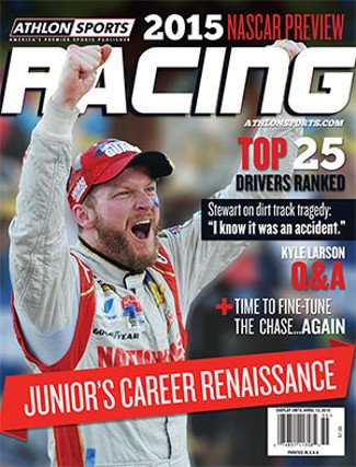 2015 Athlon Sports NASCAR Racing Preview Magazine- Dale Earnhardt, Jr. Cover