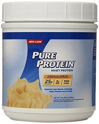 Pure Protein 100% Whey Powder - Vanilla Cream, 1 pound
