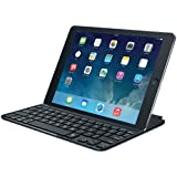 Logitech Ultrathin Magnetic Clip-On Keyboard Cover für iPad Air (kabellose Bluetooth-Tastatur und Halterung, deutsches Tastaturlayout QWERTZ) schwarz
