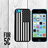 Black and White American Flag Custom made Case/Cover/skin FOR Apple iPhone 5c – Black – Rubber Case ( Ship From CA) Reviews