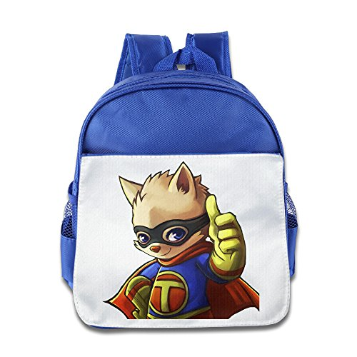 [D2 Fashion Teemo School Bag For 3-6 Years Old Child RoyalBlue Size One Size] (Tim Drake Costume)