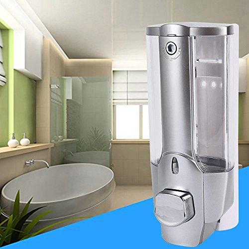 350ml Kitchen Bathroom Single Head Soap Dispenser with a Lock ABS Plastic Liquid Shampoo Vessel (Soap Dispenser Shower Head compare prices)