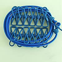 KF096 Portable 185cm Travel Outdoor Camping Clothes Line Hanging Rope with 12 Pegs (blue)