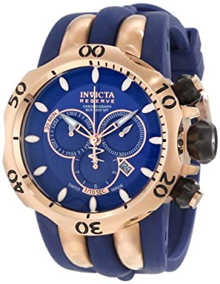 Invicta Men's 10831 Venom Reserve Chronograph Blue Dial Watch