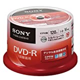 SONY ビデオ用DVD-R CPRM対応 120分 16倍速 シルバーレーベル 50枚スピンドル 50DMR12KLDP