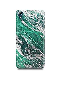 Green & Silver Marble HTC 728 Case