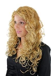 Damenperücke, gelockte, sehr lange, gemischtes Blond, Nixe, Mermaid, Meerjungfrau, 90007-234H from VK Event Fashion