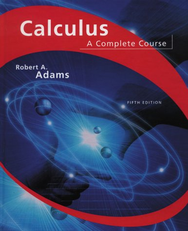 Calculus: A Complete Course (5th Edition)