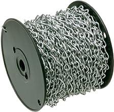 Arlington Industries  JC12-1 Zinc-Plated Steel Jack Chain Reel 12-Inch 100-Feet 1-Pack