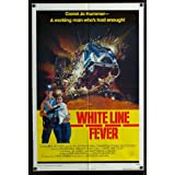 White Line Fever style B one-sheet movie poster '75 Jan-Michael Vincent, cool truck crash artwork!