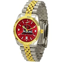 "Miami Ohio Redhawks NCAA AnoChrome ""Executive"" Mens Watch"