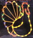 17 Lighted Thanksgiving Turkey Window Silhouette Decoration