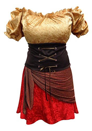 [Sanctuarie Designs Pirate Plus Size Supersize Halloween Costume Dress Only 1xT] (Plus Size Halloween Costumes Pirate)