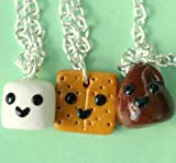 Handmade S'Mores Three-Way Best Friend Necklaces
