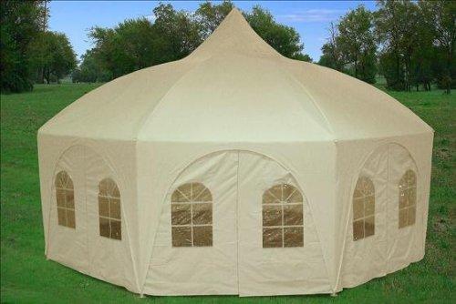 20'x20 Octagonal Wedding Gazebo Party Tent Canopy Shade