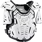 Fox Racing Airframe Youth Boys Roost Deflector Off-Road Motorcycle Body Armor - White/Black / Small