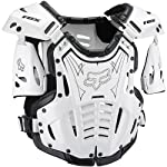Fox Racing Airframe Youth Boys Roost Deflector MX/Off-Road/Dirt Bike Motorcycle Body Armor - White/Black / Small