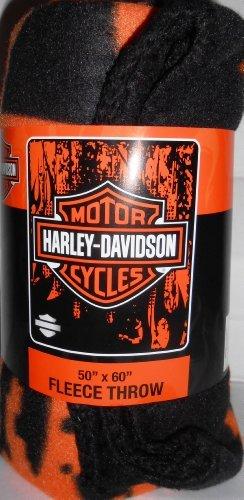 Harley Davidson Vapors Lightweight Fleece Throw Blanket (50X60)
