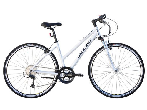 XDS Women's Cross 400 24-Speed Hybrid Bike, White