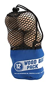 A&R Sports Wood Ball (Pack of 12) by A&R Sports