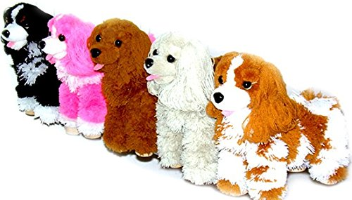 """Collect Them All"" 5 Puppets - 12"" Cocker Spaniel Marionette Puppets Assorted Colors."