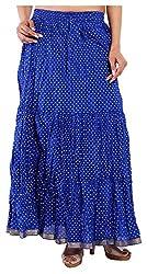 Magnus Women's Long Skirt (SKT482, Blue, M)